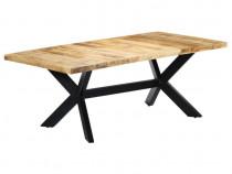 Masă de bucătărie, 200x100x75 cm, lemn 247427