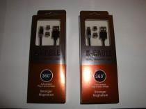 Cablu magnetic usb 3in1 tip c micro usb si iphone telefon