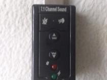 Placa de sunet 7.1 sau 5.1 canale,sunet 3d,pt pc,laptop,nouă