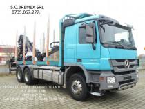 Camion forestier 6x4 Mercedes arcuri fier+avans de la 0%