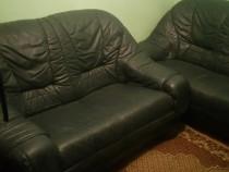 Canapele piele naturala