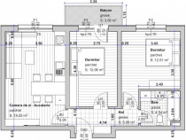 Apartament cu 3 camere, etaj 1 Selimbar zona Primarie