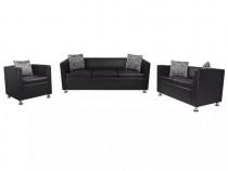 Set canapele 3 și 2 locuri și fotoliu, piele 272179