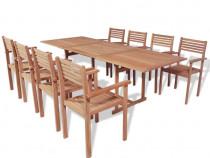 Set mobilier de exterior, 9 piese, lemn 43039