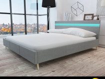 Cadru de pat cu LED, gri deschis, 180 x 200 cm,242074