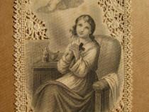 B251-2 Semne carte catolice rugaciuni carton anii 1900.