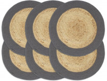 Naproane, 6 buc., antracit, 38 cm, iută și 133859