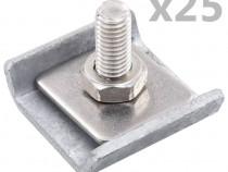 Conector grilaj din plasă, argintiu, 144500