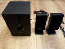Boxe/sistem 2.1, 11 w (rms), negru, 220 v, nou !
