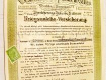 B324-I-Banca Phonix Viena Austria 1918. Asigurari- Oblig.