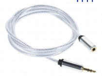 Cablu Audio prelungitor stereo 3 pini 3.5mm jack M/T 1m