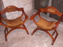 Set de doua scaune Savonarola