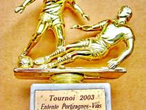 B537-Statuieta Fotbal Turneul agrement Spania 2003.