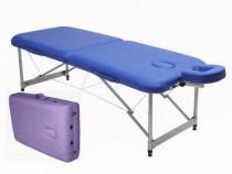 Masa masaj pliabila si portabila 2 sectiuni aluminiu