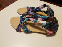 Sandale dama de vara din material fin nr 37 noi nepurtate