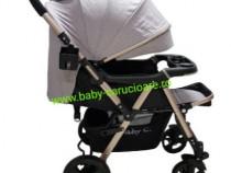 Cărucior nou născut 2 in 1 +plasă Baby Care 511 Grey Gold