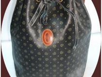 Bucket bag *Pollini*, piele naturala interior / exterior, au