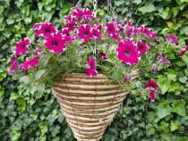 Ghiveci suspendat impletit/Ghiveci flori cu agatatoare/Cos