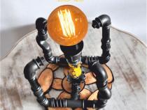 Lampa cub steampunk design cj, lampa steampunk