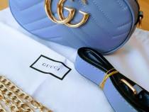 Borsete Gucci logo metalic auriu,lant si curea detasabile