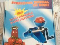 Storcator manual de rosii cu sita inoxidabila