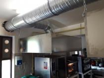 Montaj tubulatura de ventilatie si hote restaurant din inox