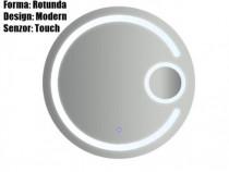 Oglinda Baie Rotunda Moderna 70 x 70cm Iluminta Led Touch