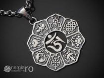 Pandant Amuleta Pandantiv Om Mani Padme Hum ARGINT - PND946
