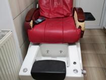 Scaun pedichiura spa cu hidromasaj și masaj spate