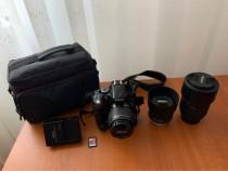DSLR Nikon D5200 + 3 obiective + accesorii