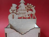 Cutie de lemn cu motive de Sarbatori