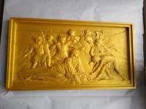 Tablouri sculptate in lemn masiv fag, cu Iisus, 3 buc.