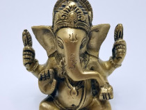 Statuie Ganesh din Bronz Protecție și Bogații (12 cm)