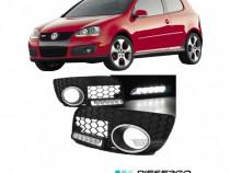 Grila grile bara proiector ceata cu LED GTI VW Golf 5 (V)