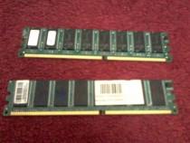 2 memorii 256MB DDR1 PC2100