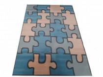 Covor Puzzle camera copii, 120x170 cm, nou