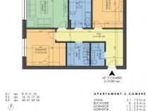 Apartament cu 3 camere funigeilor
