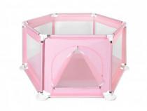 Tarc/Patut pliabil/Loc de joaca pt.copii,nou,roz, 125X65 cm