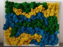 Tablou Cu licheni stabilizati (40x50 cm)