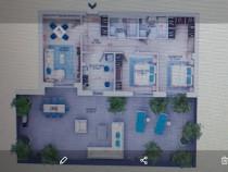 Apartament titan 3 camere superb cu terasa superba