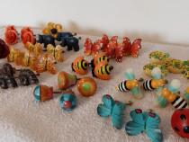 Manere/Butoni mobila copii, cu flori sau animale colorate