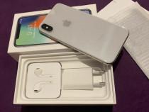 Apple iPhone X silver full box impecabil,neverlock