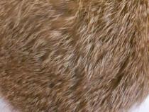 Caciula si guler din blana de vulpe roscata