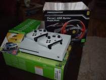XBOX ONE S + 11 jocuri + 2 controllere si volan FERRARI