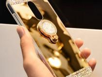 Husa Oglinda, pietricele si inel pt. Huawei Mate 10 Lite