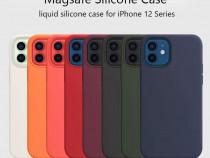 Iphone 12 MINI PRO MAX Husa X LEVEL Silicon Catifea Interior