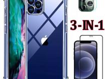 Iphone 12 MINI PRO MAX - Husa Silicon + Folie Sticla +Camera