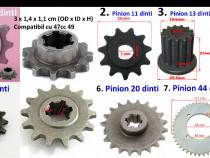 Pinion 6,7,11, 13, 14, 20, 44 dinti! Ptmotor scuter electric