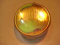 B850-Caseta mica aurita monograma IHS Cruce. Alama aurita.