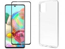 Samsung A20S A31 A41 A42 S20FE Pachet Husa Silicon + Folie S